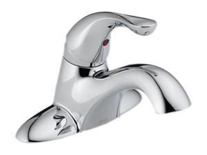 DELTA 500-DST Euro Modern Classic Single Handle Centerset Lavatory Faucet - Less Pop-Up