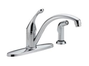 Delta 440-DST Collins Single-Handle Side Sprayer Kitchen Faucet in Chrome