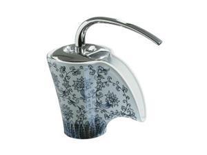 KOHLER K-11010-VB-0 Euro Modern Vas Single-control Ceramic Lavatory Faucet with Imperial Blue