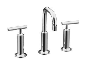 KOHLER K-14407-4-CP Euro Modern Purist Widespread Lavatory Faucet