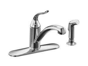 KOHLER K-15072-P-CP Coralais Decorator Kitchen Sink Faucet Polished Chrome