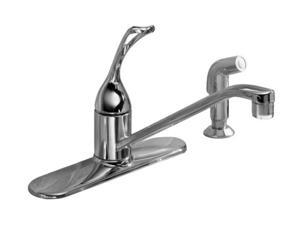 "KOHLER K-15172-TL-CP Coralais Single-control Kitchen Sink Faucet with 10"" Spout, Color-matched Sidespray, Ground Joints and ..."