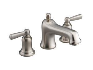 KOHLER K-T10592-4-BN Bancroft Deck-Mount Bath Faucet Trim with Metal Lever Handles, Valve Not Include