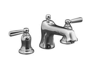 KOHLER K-T10592-4-CP Bancroft Deck-Mount Bath Faucet Trim with Metal Lever Handles, Valve Not Include