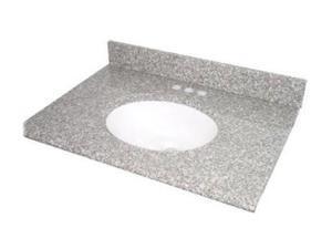 "Pegasus 25664 Montero Granite Granite 25"" Granite Vanity Top with White Bowl and 8"" Spread"