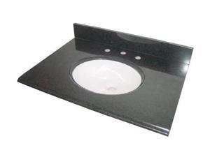 Pegasus 31684 31-Inch Granite Vanity Top with White Bowl and 8-Inch Spread