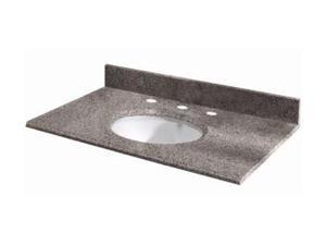 Pegasus 37603 37-Inch Napoli Granite Vanity Top with White Bowl and 8-Inch Spread