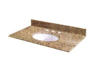Pegasus 37649 37-Inch Montesol Granite Vanity Top with White Bowl and 8-Inch Spread