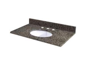 Pegasus 37829 37-Inch Quadro Vanity Top with White Bowl and 8-Inch Spread