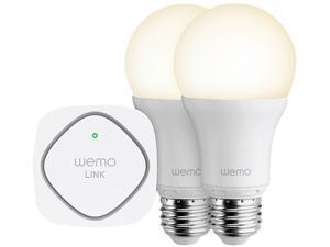 Belkin F5Z0489UK WeMo Controlled LED Bulb Lighting Starter Set (Screw Cap)