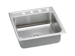 "Elkay PSRQ22224 Gourmet [Pacemaker] Sink, 22"" L x 22"" W, 4 Faucet Holes"