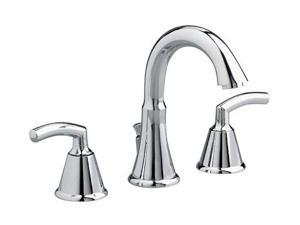 "American Standard 7038.801.002 6"" to 12"" Tropic Widespread Bathroom Lavatory Faucet Polished Chrome"