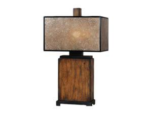Uttermost Carolyn Kinder Sitka Table Lamp Solid wood finished in a heavily distressed rustic mahogany with a light rottenstone glaze and aged black details