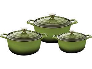 La Cuisine 6 Pc Set Including 2.2 QT, 3.7 QT and 5 QT Round Casseroles w/Lids