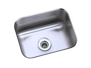 Elkay ELUH129 Gourmet Lustertone Undermount Sink, Stainless Steel