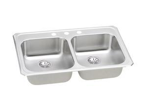 Elkay GECR33213 Gourmet Celebrity Sink, Stainless Steel
