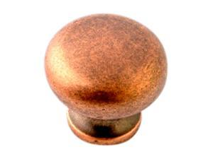 "Giagni KB-6BR-TC 1-1/4"" Round Knob - Tumbled Copper"