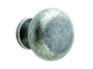 "Giagni KB-6BR-TP 1-1/4"" Round Knob - Tumbled Pewter"