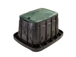 "Rain Bird 12"" Rectangular Valve Box - Green Lid"