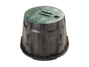 "Rain Bird 10"" Green Round Valve Box with Lid"