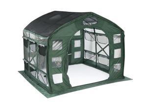 Flowerhouse FHFH700CL 9' x 9' x 8' FarmHouse Clear