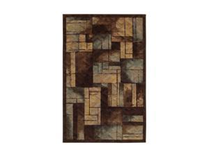 "Mohawk Home New Wave Roby Blue 45"" x 68"" Rug Brown 3' x 5' 10533 439 045068"