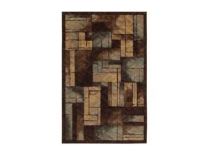 "Mohawk Home New Wave Roby Blue 60"" x 96"" Rug Brown 5' x 8' 10533 439 060096"