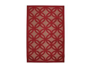 "Mohawk Home Easy Living Roundelay Crimson/Metallic 60"" x 96"" Rug Crimson 5' x 8' 6531 14450 060096"