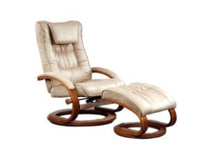 Mac Motion Chairs Mocha Brown Microfiber Swivel, Recliner with Ottoman