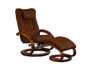 Mac Motion Chairs Chocolate Brown Microfiber Swivel, Recliner with Ottoman