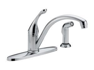 DELTA 440-WE-DST Collins Single Handle Water-Efficient Kitchen Faucet w/ Spray Chrome