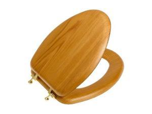 Bemis 19601BR 378 Elongated Closed Front Toilet Seat - Natural Oak