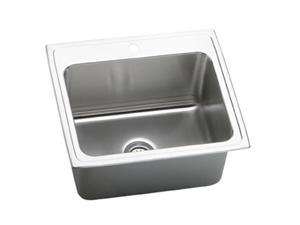 Elkay DLR2522121 Gourmet Deep Top Mount Single Bowl Sink - Stainless Steel