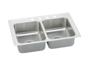 Elkay PSR43224 Pacemaker Top Mount Double Bowl Sink - Stainless Steel