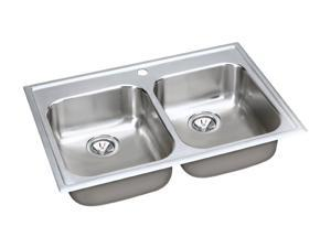 Elkay EG33221 elumina Top Mount Double Bowls Sink - Stainless Steel