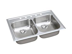 Elkay EG33225 elumina Top Mount Double Bowls Sink - Stainless Steel
