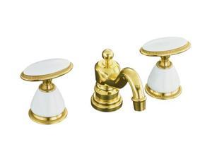 KOHLER K-280-9B-PB Antique Widespread Lavatory Faucet