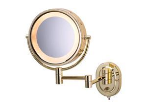 Jerdon HL65G 5X Wall-Mount Lighted Mirror