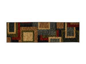 "Mohawk Home Swirls Matlin Heritage 24""X96"" Rug Black Runners 11097 486 024096"