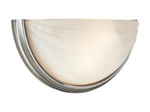 Access Lighting Crest Wall Sconce - 2 Light Satin Finish w/ Alabaster Glass