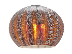 Access Lighting Safari Contemporary Silver Amber Ribbed Opaline Glass Shades