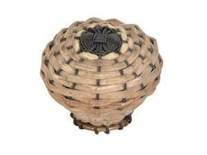 "Atlas 3128 1.5"" Sm Bamboo Weave Knob , Aged Bronze"