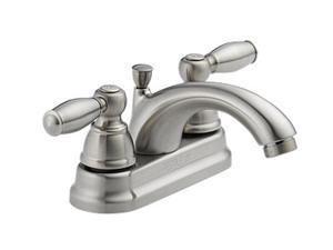 "Peerless P299675LF-BN 4"" Centerset Two Handle Lavatory Faucet Brilliance Brushed Nickel"
