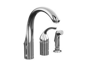 KOHLER K-10430-CP Forte Single-control Remote Valve Kitchen Sink Faucet and Lever Handle Polished Chrome