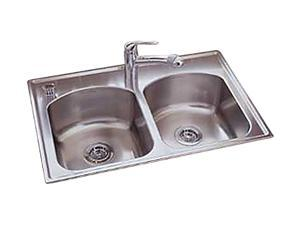 American Standard 7502.103.075 Culinaire Top Mount Double Bowl Kitchen Sink