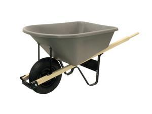 Ames True Temper CP6 25SB 6 Cubic Foot Poly Wheelbarrow