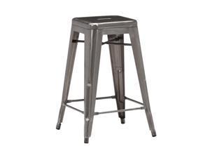 Zuo Modern Marius Set of 4 Counter Chair Gunmetal