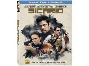 Sicario [Blu-ray + DVD + Digital HD] Emily Blunt, Benicio del Toro, Josh Brolin, Jon Bernthal, Victor Garber