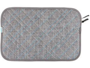 "Timbuk2 Gray Texture/Cold Blue Plush Layer 11"" Laptop Sleeve Model 304-11N-2211"