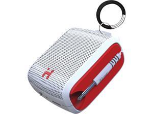 IHOME iM54WRC Rechargeable Mini Speaker (White/Red)